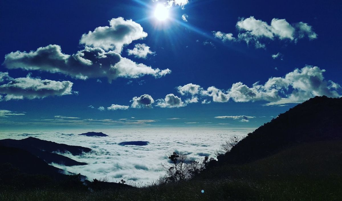 Relaxing Beauty In Nature Landscape Blue Sky Clouds And Sky Ayabaca Sun And Moon Sunset No People
