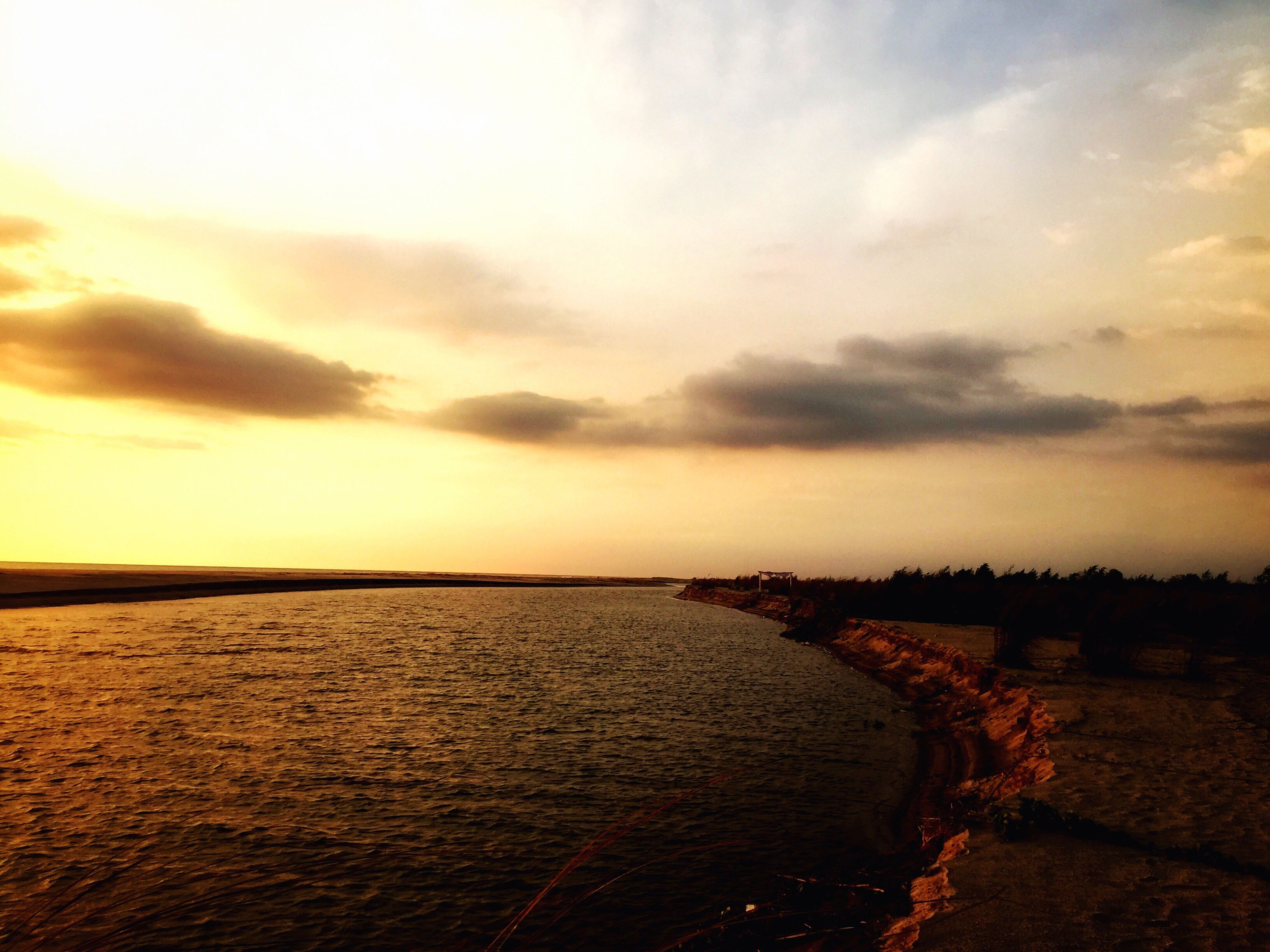 water, sky, sunset, nature, tranquility, scenics, beauty in nature, no people, outdoors, sea, beach, day