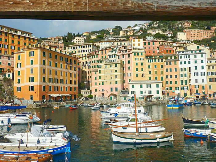 City Travel Destinations Cityscape Building Exterior Architecture Travel Tourism Nautical Vessel Residential Building Business Finance And IndustryBuilt Structure Outdoors Sky Water Day Vacations No People Harbor Urban Skyline Camogli Camogli Italia Sea And Sky Liguria Reflection Beach