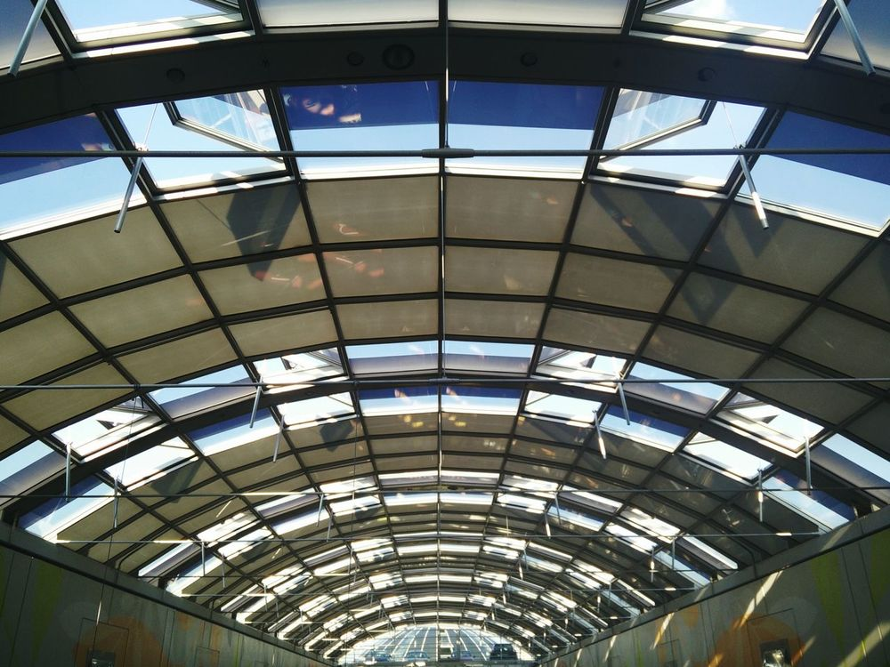 Architecture Architecture_collection Building Glass Sky Blue Sky Roof Frame Transparent Roof Transparent Budapest The Architect - 2016 EyeEm Awards Your Design Story