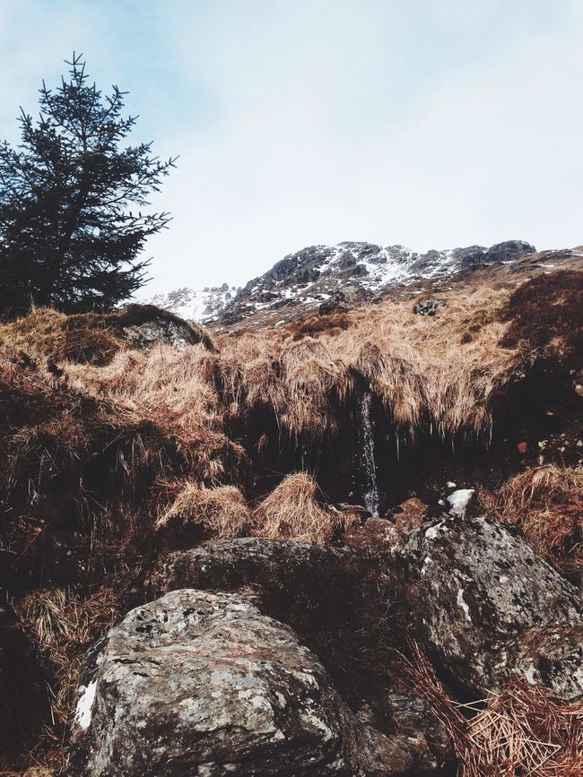 The Route to The Cobbler Mountain Pine Tree Rock Icicle Climb Scotland The Cobbler
