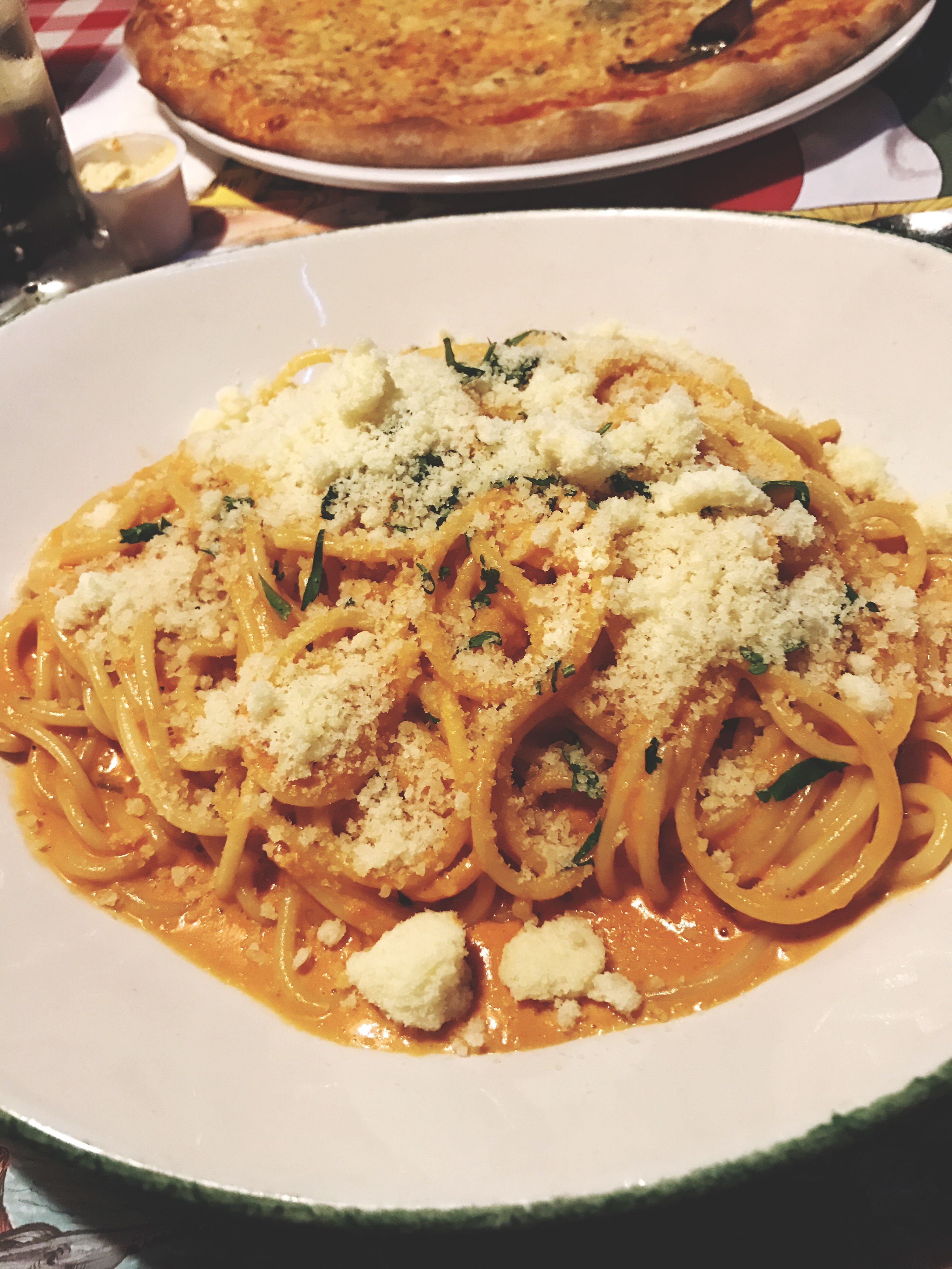 food, plate, food and drink, freshness, ready-to-eat, serving size, homemade, high angle view, indulgence, close-up, temptation, indoors, italian food, cooked, no people, meal, unhealthy eating, table, food state, day