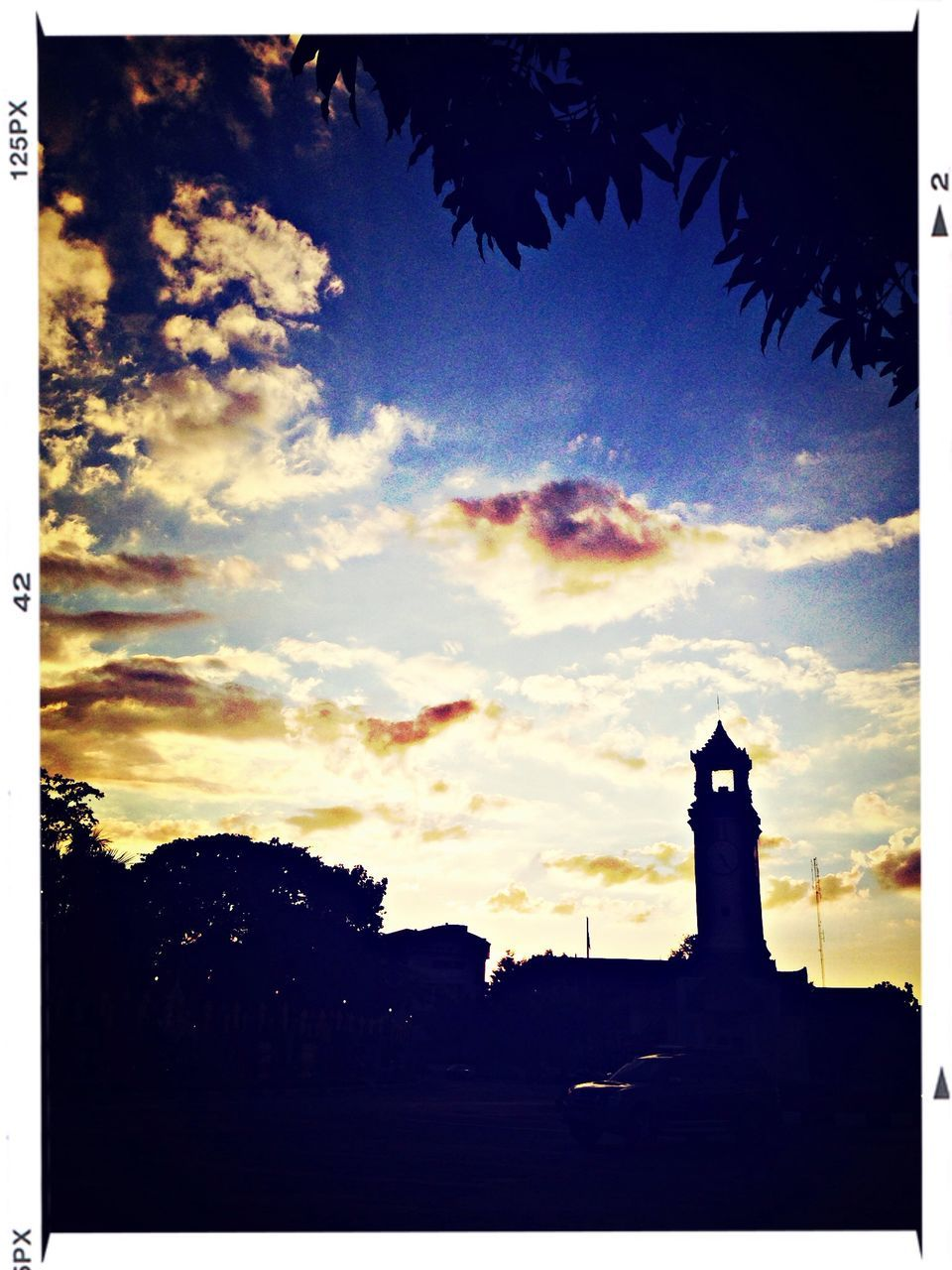 silhouette, sky, no people, outdoors, sunset, cloud - sky, statue, nature, building exterior, tree, architecture, day