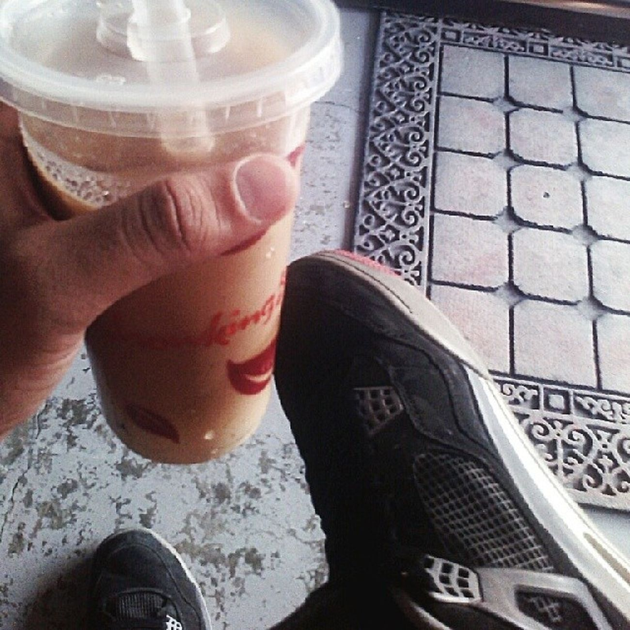 developin a habiiit from someone you know who drinks milktea a lot, didnt know id actually get to have the same habiiit as well, i guess theres that connection that makes it happen, cheeers fer the fellas feelin hot out today! Milktea Tripnoticthursday King - pdk DongaloWreckords 1 clarkfieldpampanga