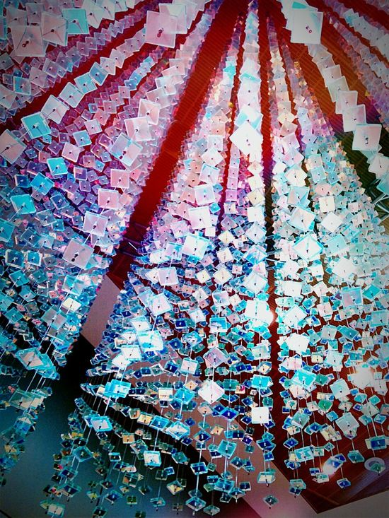 Shiny Sparkle Hanging Hanging Sculpture Mirrored Whimsical Rainbow Colors Textures And Surfaces Refelctive Hanging Out Pattern, Texture, Shape And Form Patterns Geometric Shapes Groups Of Objects Art Taking Photos Public Art