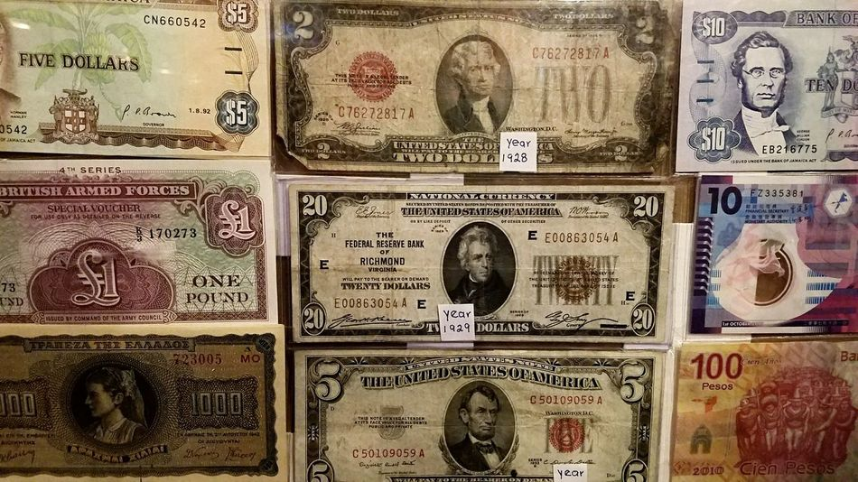 Cash Money 2 Cash Money Currency Backgrounds Background Paper Currency No People Full Frame Moolah Dinero Chaching Restaurant Display Color Color Photography Designs Detail Rectangles 1929 1928 Dollar Dollars Variety Comparison