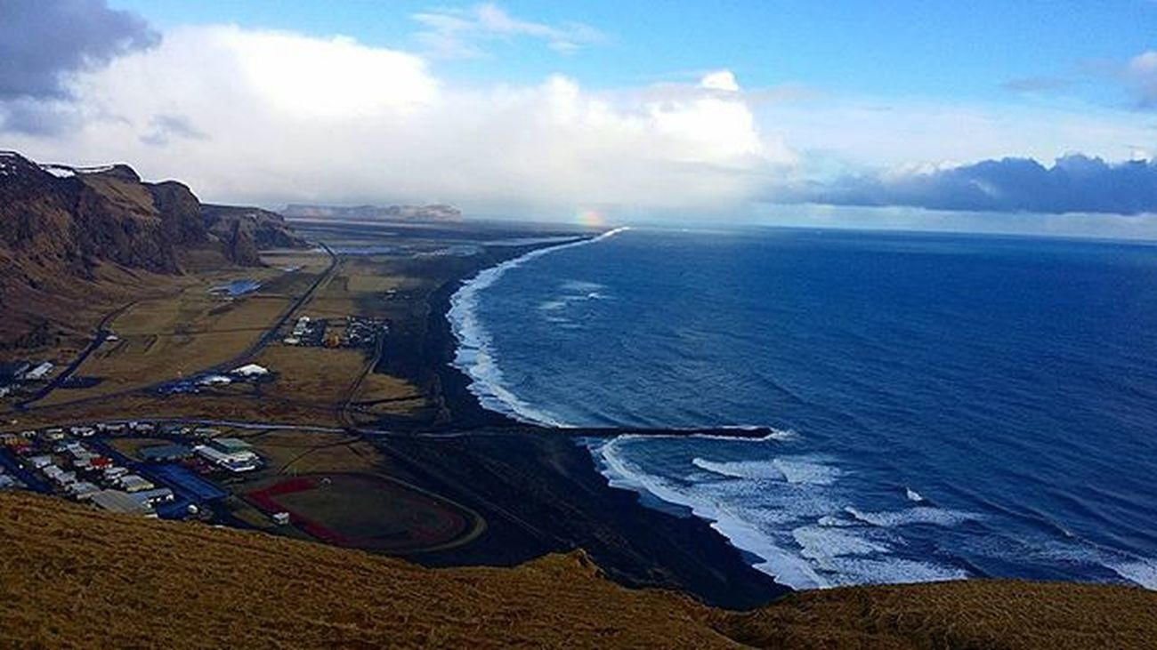 Iceland Vik Dyrhólaey Landscape Nature Beautiful Awesome Sky Skyporn Clouds Photooftheday Note3 Photographer Igers Picoftheday Blue Amazing Wallpaper Dm Beach Blacksand