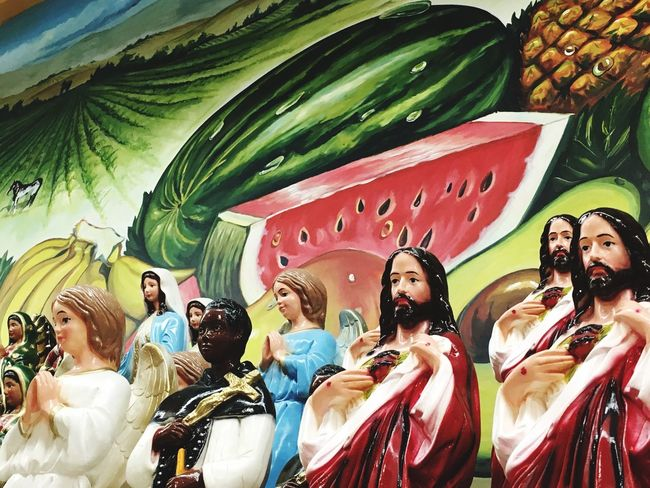 Fruits Saints Jesus Idols Religion Religious  Latin Latin America Culture Latin Supermarket Latino Watermelon