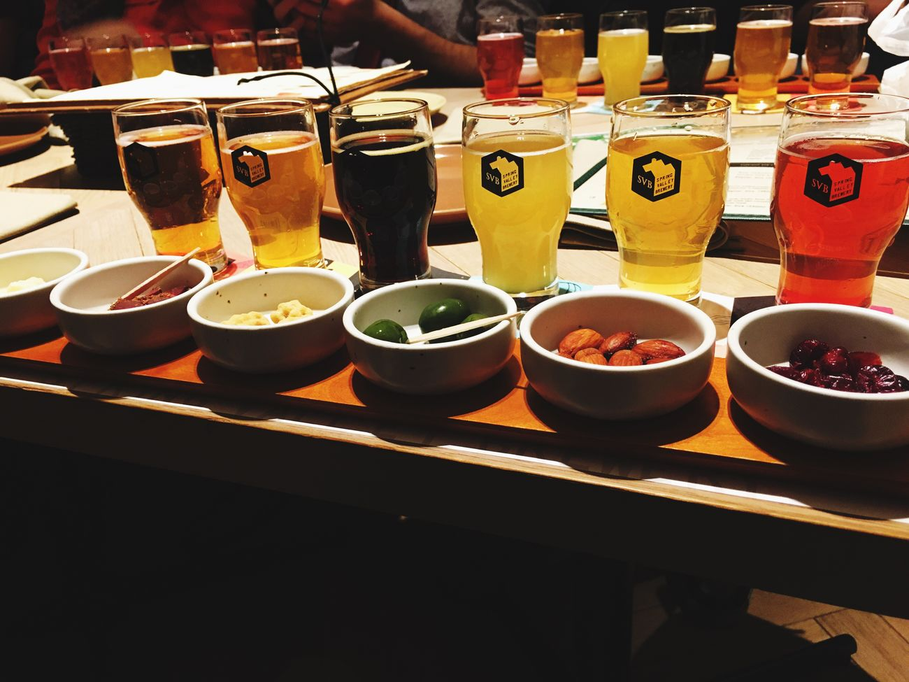 A nice sampling with some really good 'brown lemonade' Food And Drink Beer