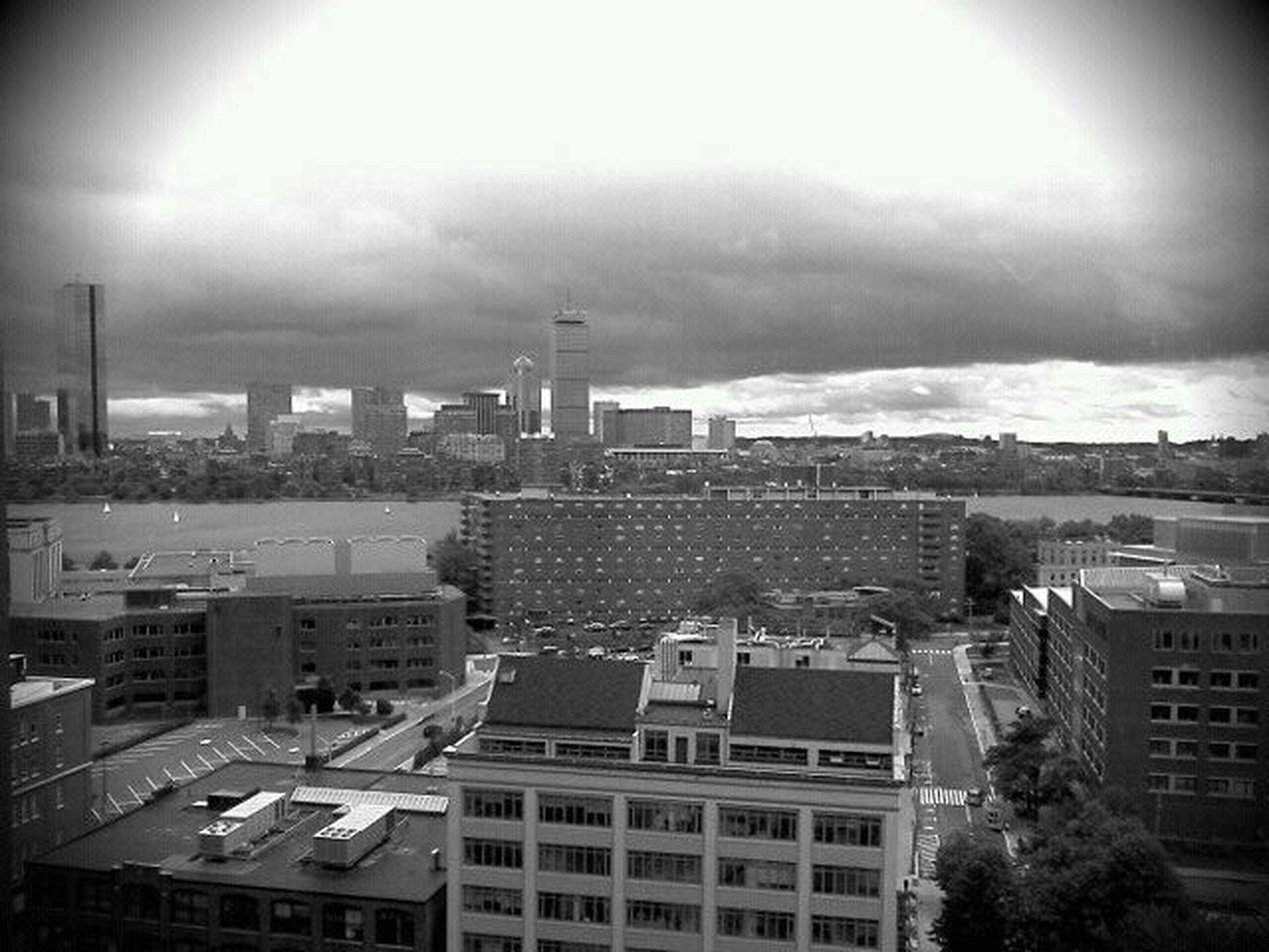 Boston looking from top floor Cambridge Marriott. @boston