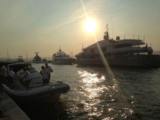 Enjoying The Sun Relaxing Boats Great Atmosphere
