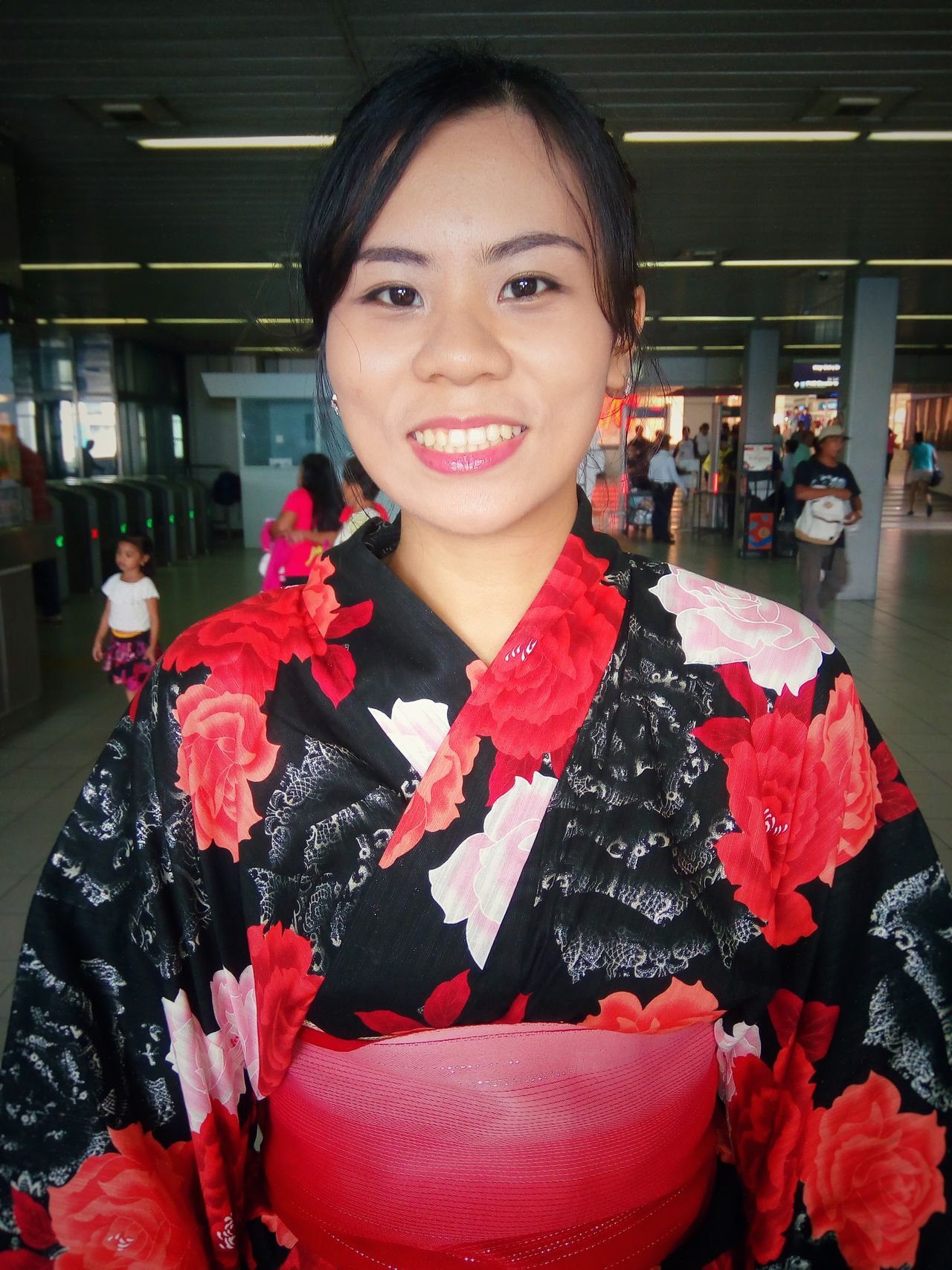 Beautiful girl wearing a Kimono Kimono Attire For The Day Commuting Running Late EyeEm Best Shots Eyeem Philippines Manila Portrait Of A Woman The Portraitist - 2016 EyeEm Awards Portrait Photography Check This Out Eye4photography  Eyeem Shot Urban Japanese  Beautiful Style Design Everday Emotions