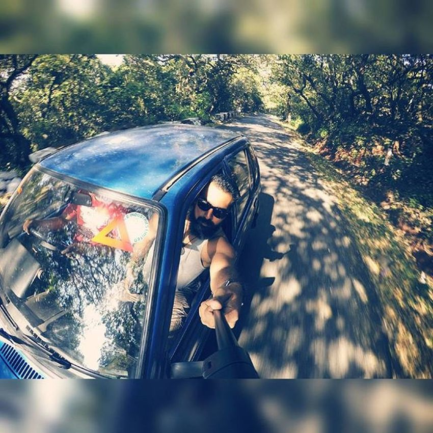 This legendary car Roadlife Roadtripping Vintagestyle VintageBeauty  800 Carselfie Traveling Gopro Goprophotography_ Goproselfie Nature Jungle Shadows Beautiful Scenes Bluecar Goanboy Onaroadtrip Bff Fun Ahd Goa India Mytravelgram