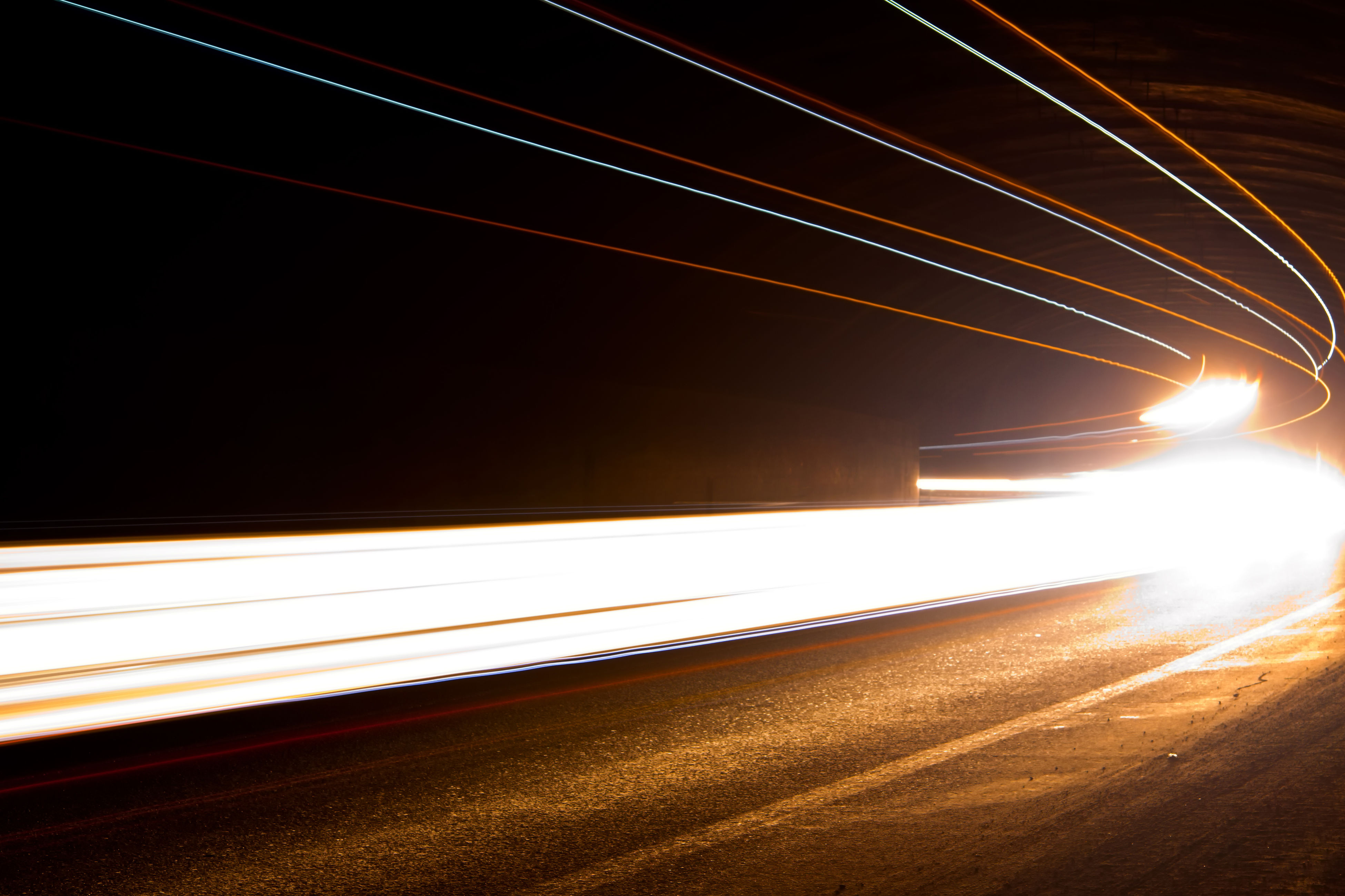 speed, transportation, light trail, night, illuminated, blurred motion, long exposure, motion, no people, outdoors, road, high street, sky