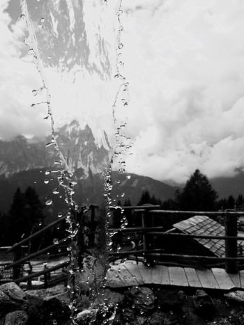 Blackandwhite Monochrome Black And White Water Water Reflections Water_collection Black & White Blackandwhite Photography Monochrome Photography Reflection Monte Elmo 2.500 M Sexten Sesto Val Pusteria Italy Weather Wet No People Sky Day Outdoors Tree RainDrop Built Structure Architecture Nature Building Exterior Close-up