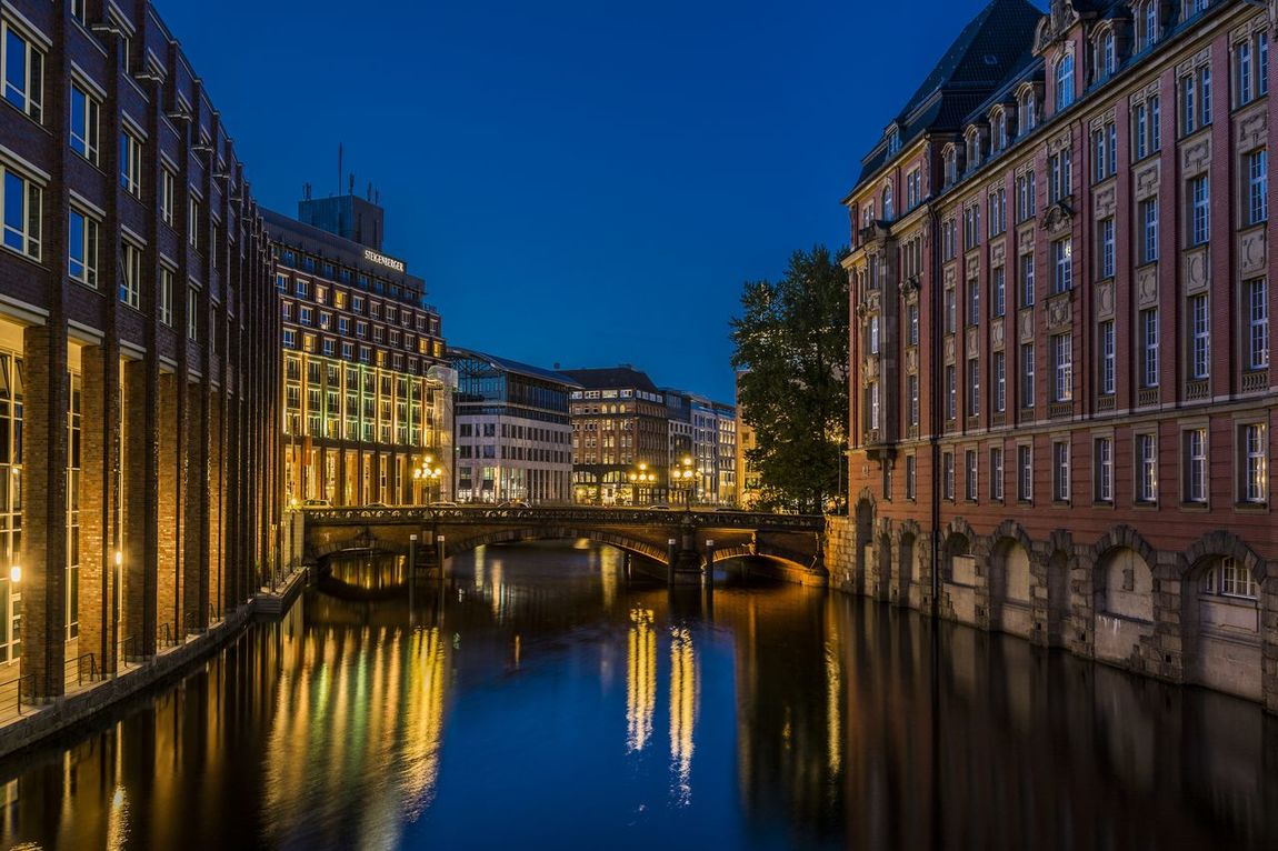 Heiligengeistbrücke Architecture Business Finance And Industry Canal City Cityscape Fleet Fleetinsel Hamburg Heiligengeistbrücke Hotel Igniting Illuminated Night No People Outdoors Reflection Retail Place Steigenberger Hotel Travel Destinations Vacations Water Fresh On Market 2016