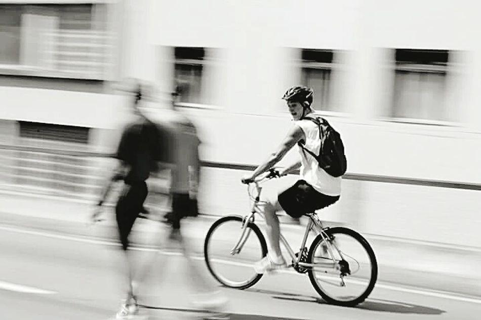 Speed Cycling Black & White Animal Photography Sreetphotographer Street Life City People Transportatstreetphotog
