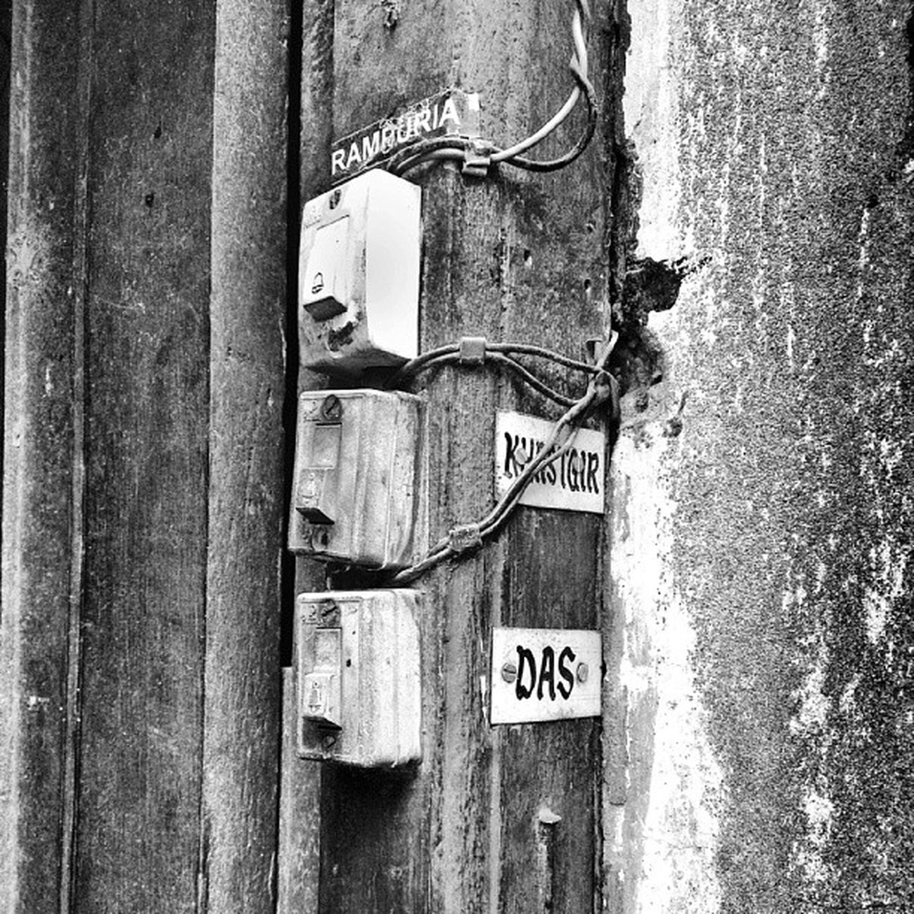 Doorbell Switches on an Old North Calcutta door. incrediblecalcutta calcuttaphototours
