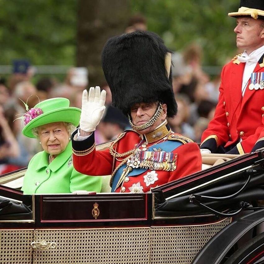 The Queen and The Duke or Edinburgh Horse Mounted Military Britisharmy Royal Britishroyalty London Ceremony Pomp Parade Trooping The Colour Queen DUKE  Dukeofedinburgh Prince  Philip ElizabethII
