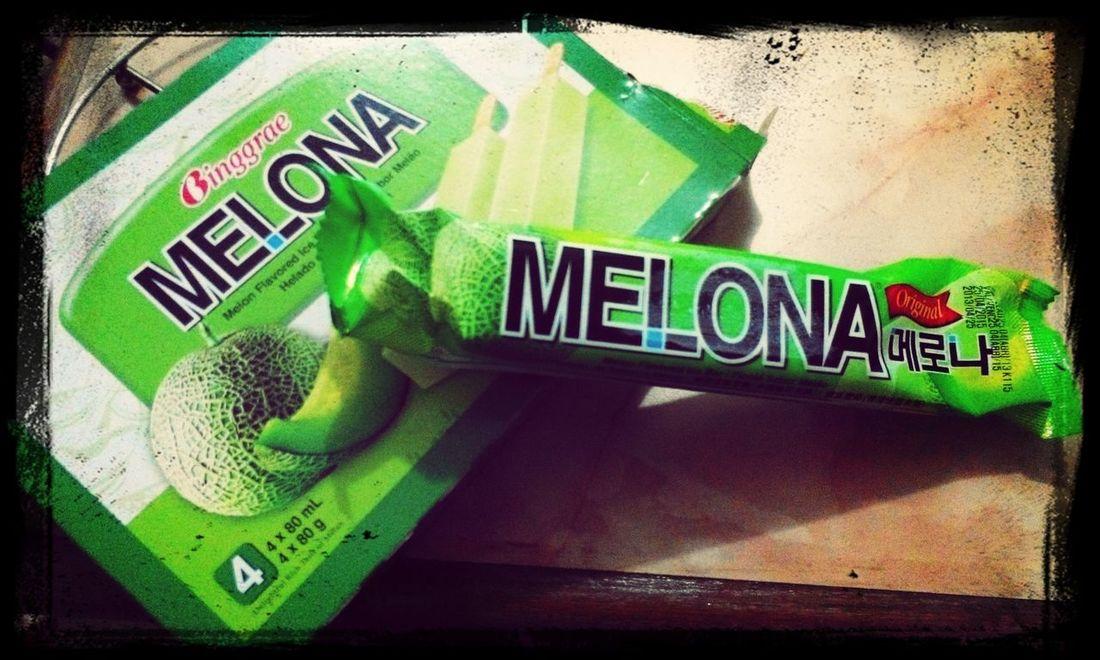 Foodphotography Green Melona Icecream