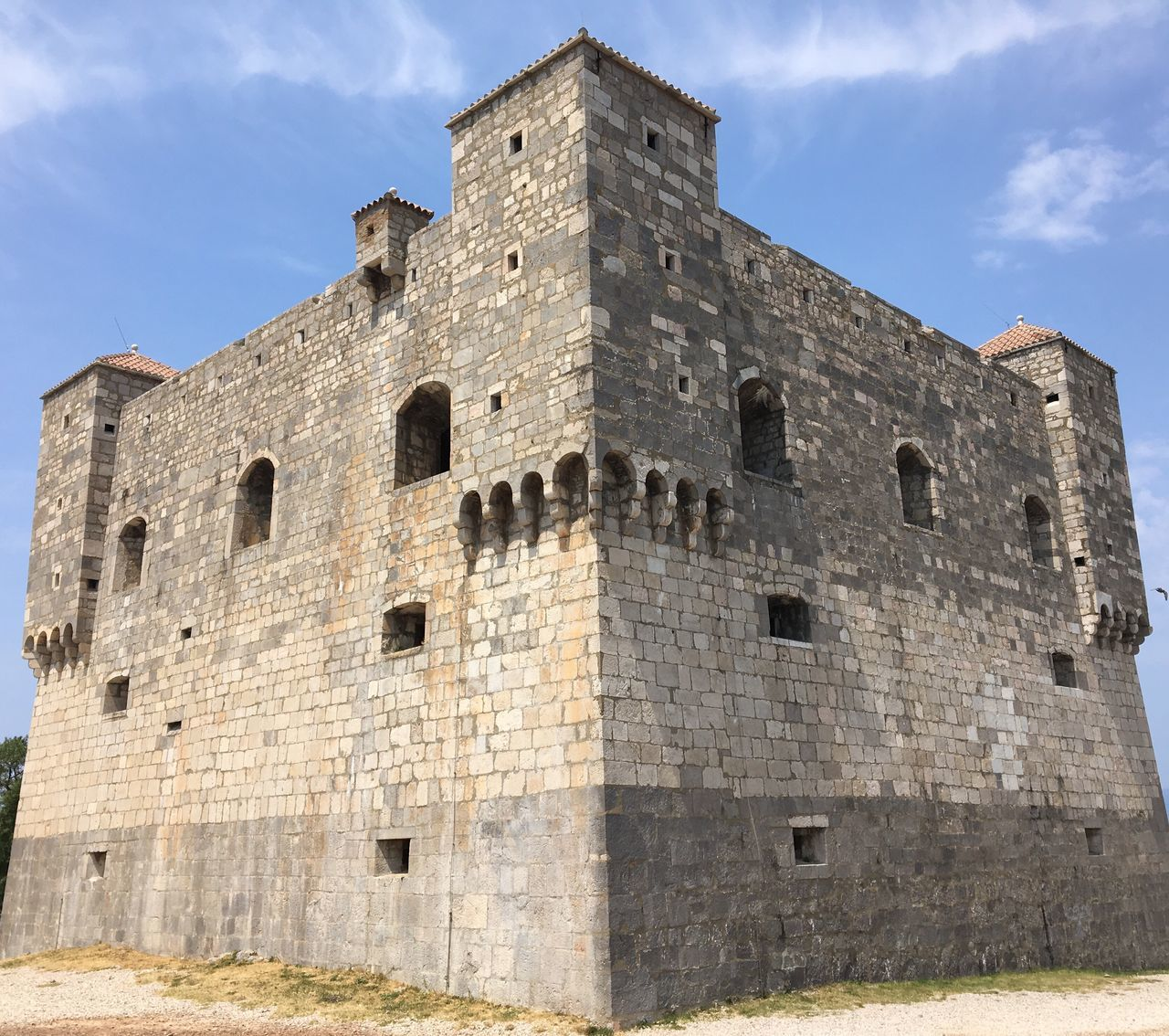 In Senj, Croatia. View of Tvrđava Nehaj (Nehaj Fortress )
