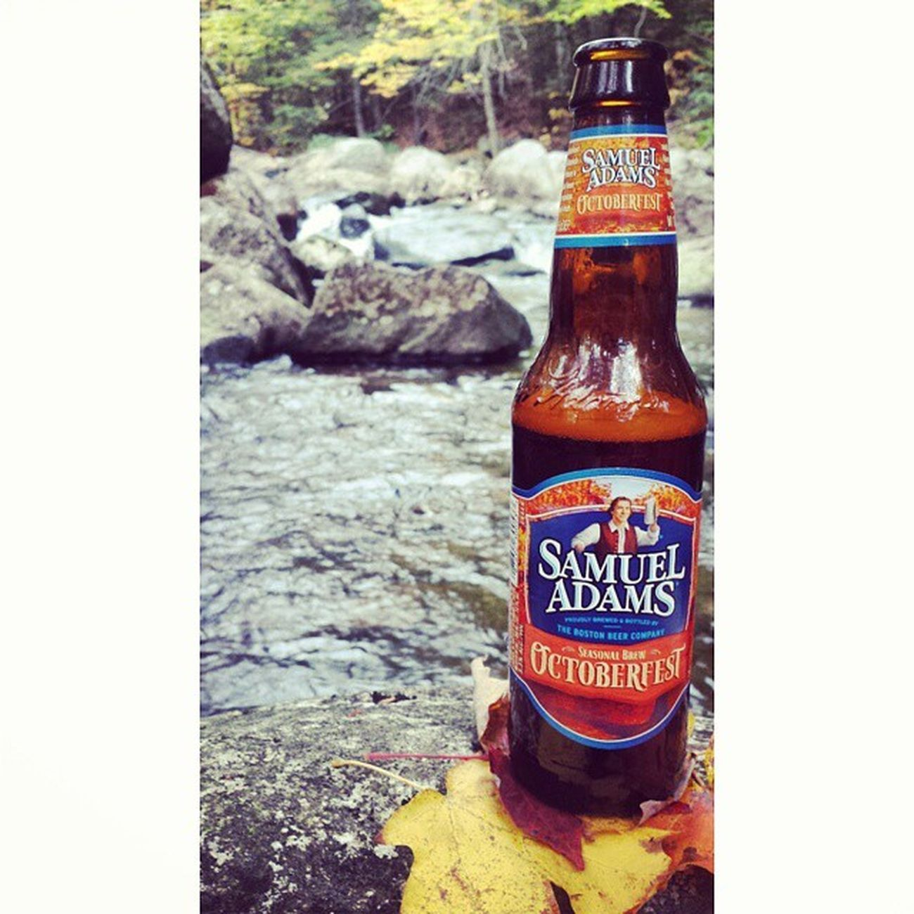 The perfect time of year to be in the mountains with the girl I love @_lisa_lee_ SamAdams Samueladams Beer Stream Fall Foliage Autumn Octoberfest October Themountains NH Newhampshire Mountainstream Leaves Water Outdoors Nature Brew CarRAMROD