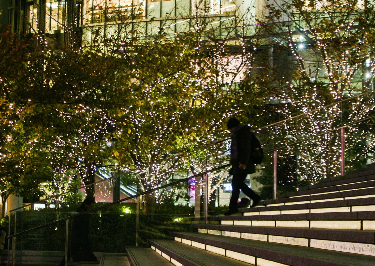 Christmas is just around the corner🎄 Christmas Around The World Night Photography Streetphotography City Silhouette Night Hugging A Tree People Check This Out EyeEmBestPics