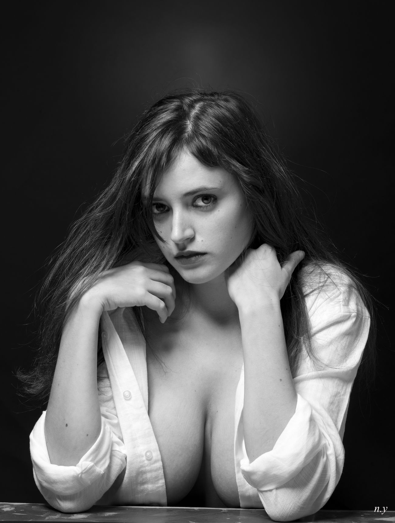 Blackandwhite Portrait B&W Portrait Sensual_woman Cute Studio Photography Fashion&love&beauty Seductive Lingerie Aubade