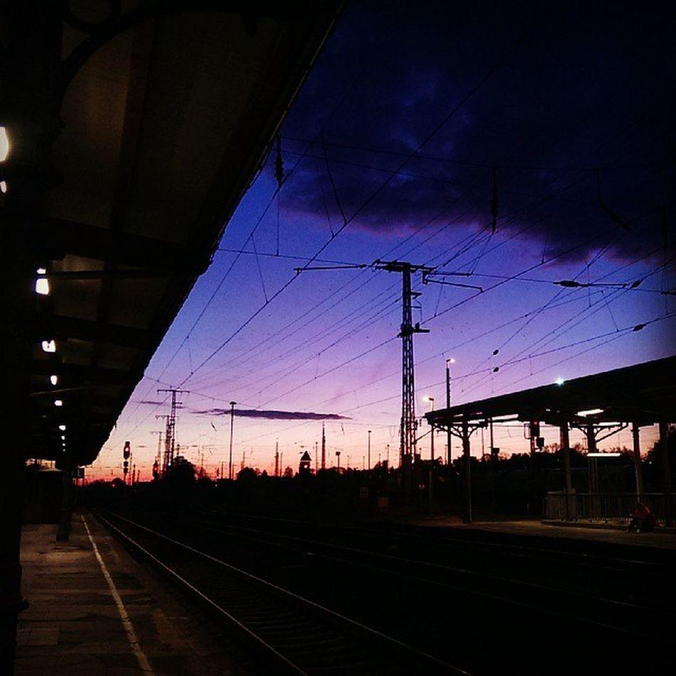 Good Morning :) Sunrise Trainstation Germany Stendal yourshot 500px Momemtum missionbahnhof
