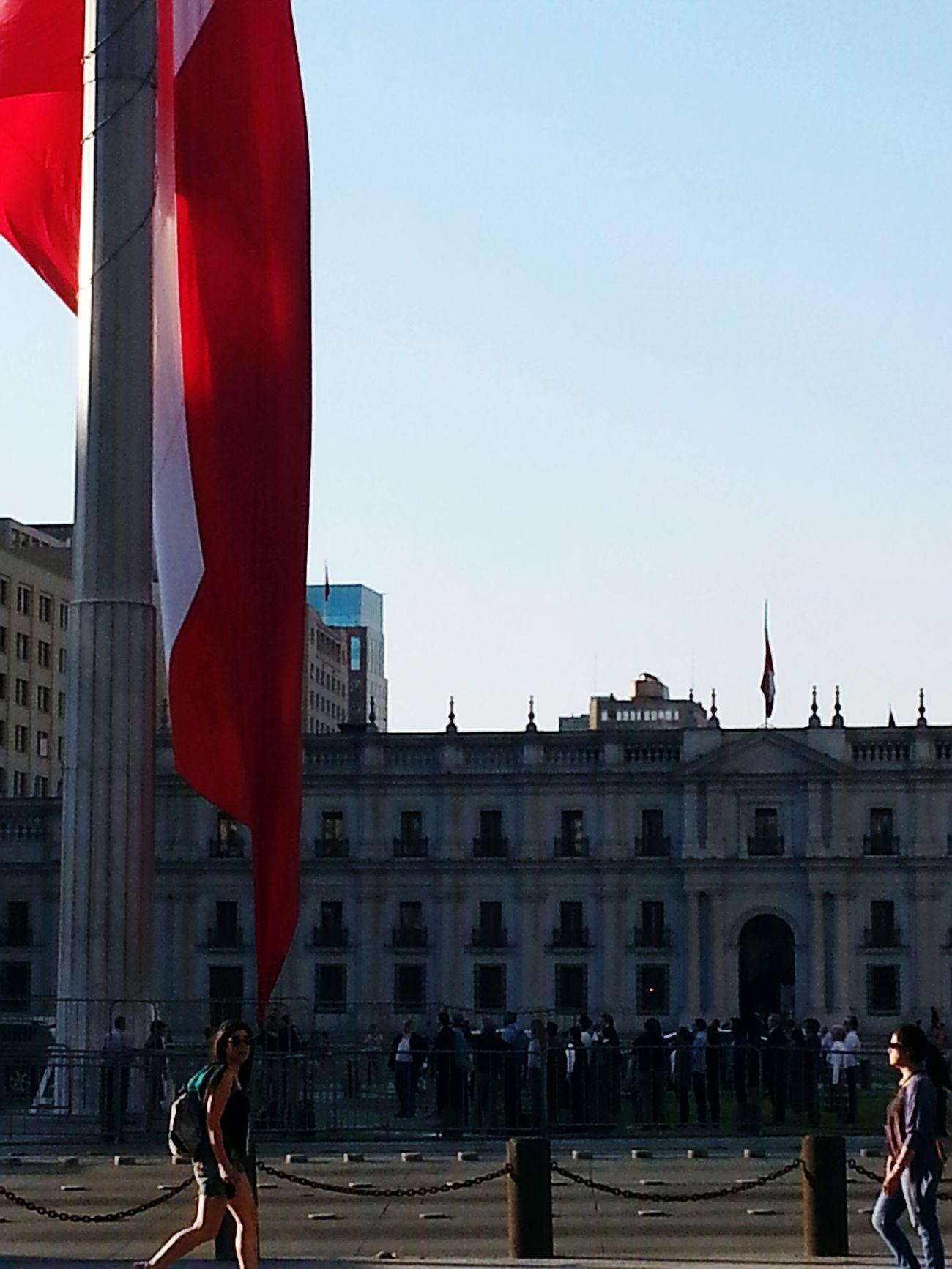 La Moneda-Casa De Gobierno Bandera Bandera Chilena Chile♥