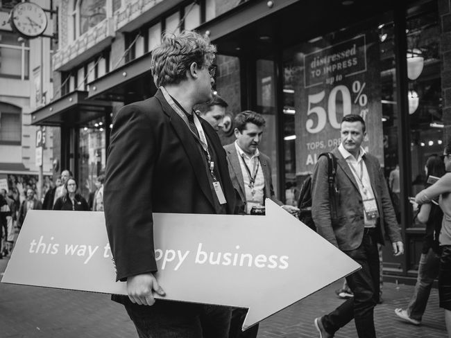 this way to happy business Street Photography Streetphoto_bw
