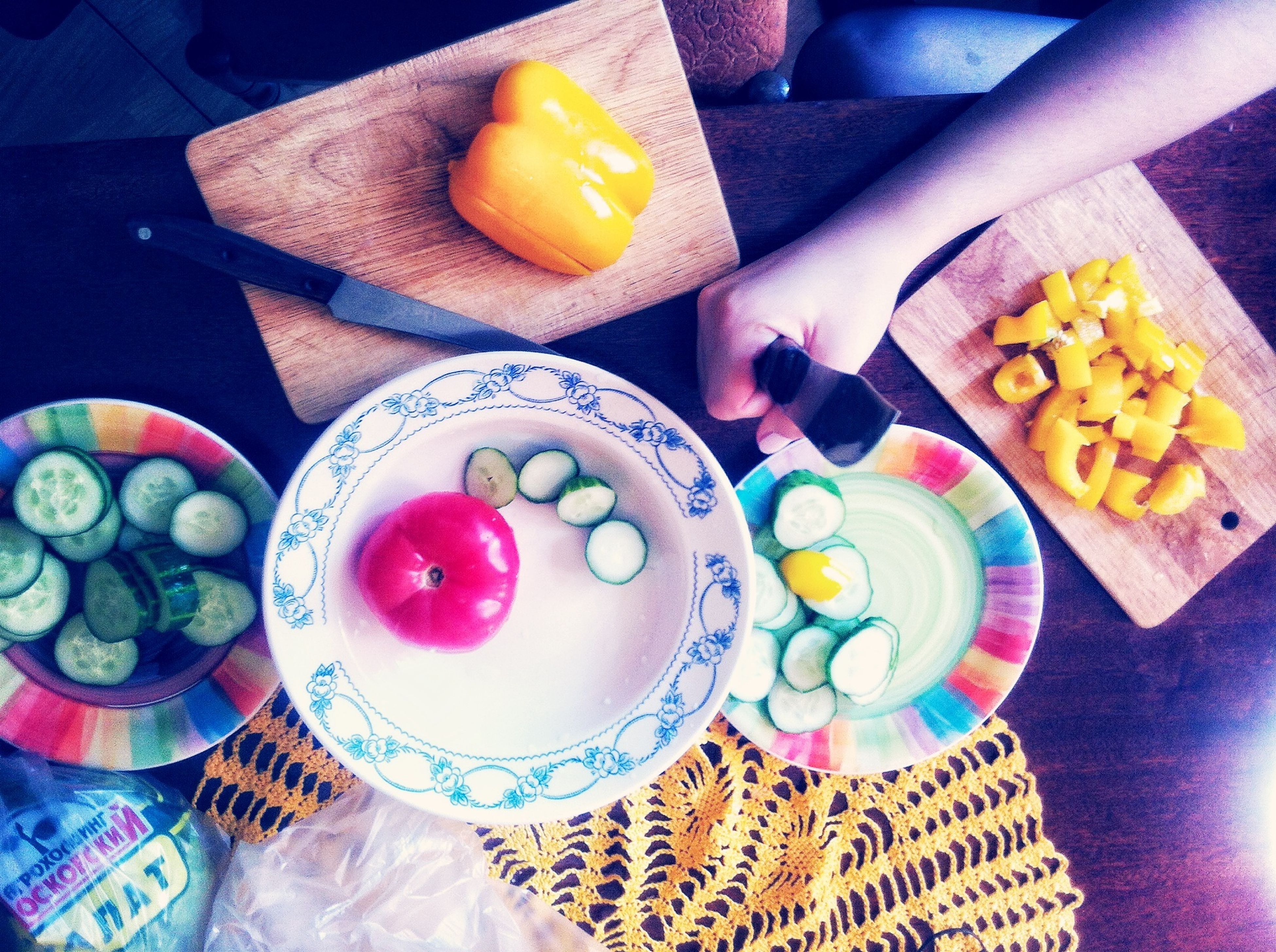 food and drink, food, indoors, freshness, ready-to-eat, table, healthy eating, plate, indulgence, sweet food, still life, high angle view, one person, slice, fruit, dessert, breakfast, person, serving size