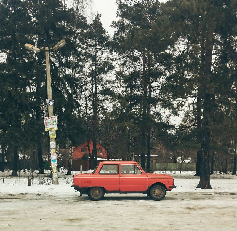 Car Russian Car Colors EyeEm Best Shots Snow Hdr_Collection Eye4photography  Transport Winter Trees