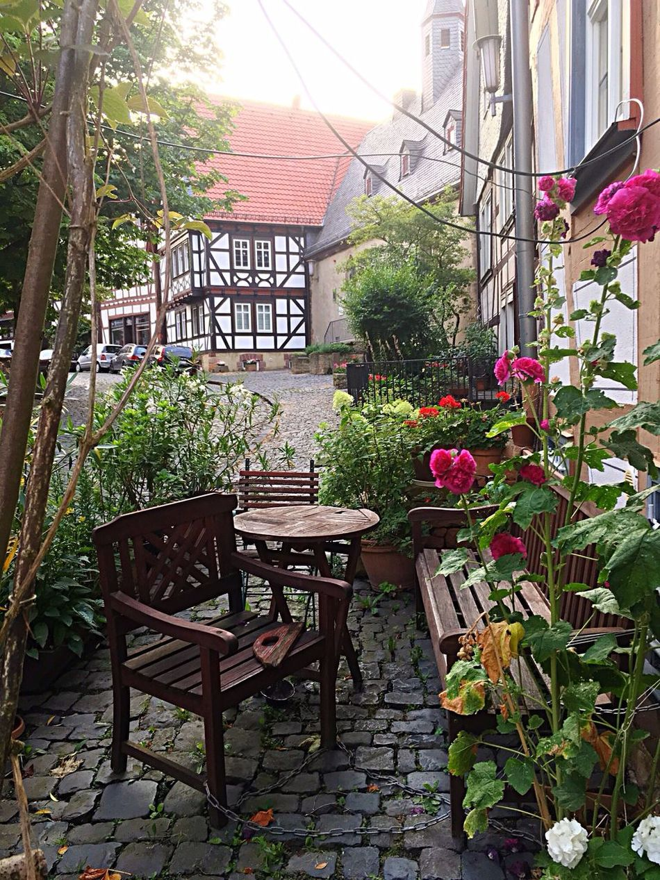A Place To Relax Front Or Back Yard Old Town Half-timbered Houses