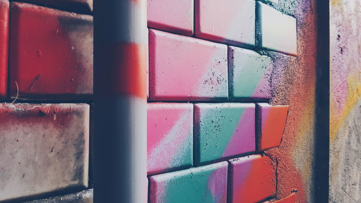 Multi Colored Close-up Backgrounds No People Architecture Built Structure Wall - Building Feature Wall Textures Spray Paint Sprayart Coloful Streetphotography Street Art