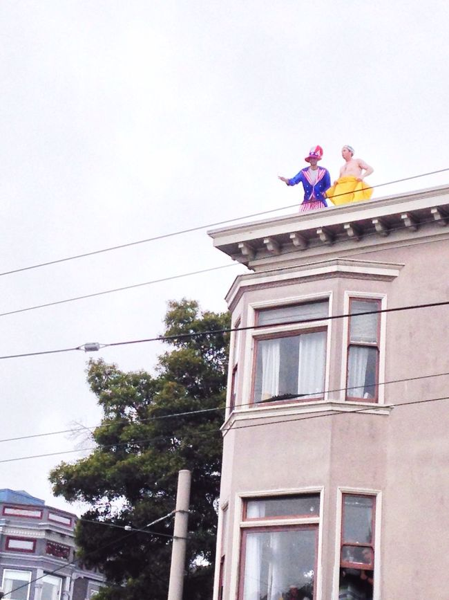 Snapshots Of Life San Francisco California Baytobreakers Bay To Breakers Streetphotography Enjoying Life Hanging Out Party at the Rooftop 😄 Party Time!