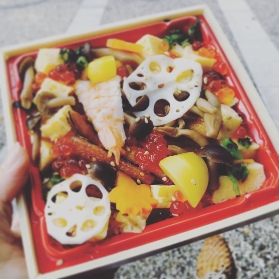 Sushi Conger Marron Salmon Roe Japanese Food Seafoods Mashrooms Lotus Root Bento Bento Box Chirashi Lunchbox Lunch