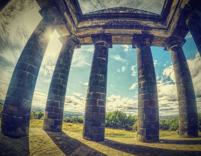Gopro Architectural Column SUPPORT Old Ruin Built Structure Column Sunlight Low Angle View Architecture Shadow Colonnade The Past History Ruined Sunbeam Destruction Supported Weathered Ancient Civilization Pillar Day