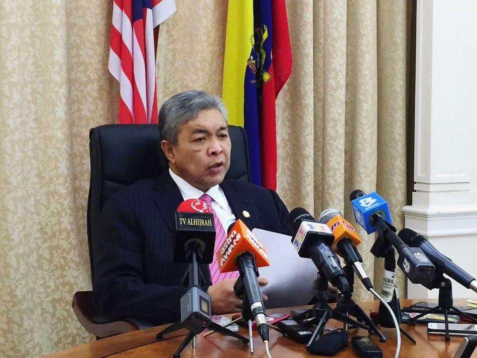 Ahmad Zahid Hamidi Deputy Prime Minister Malaysia Cabinet Minister Putrajaya, Malaysia TPM Press Conference
