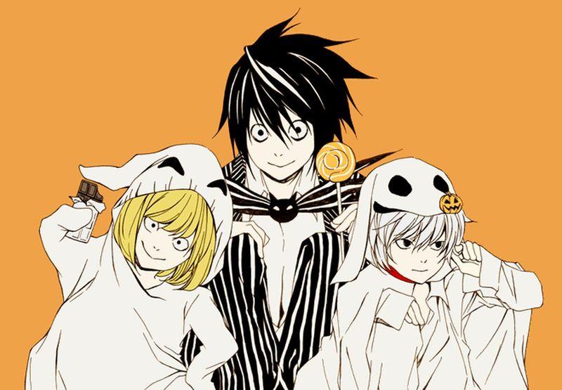 L, Mello, and Near! Death Note