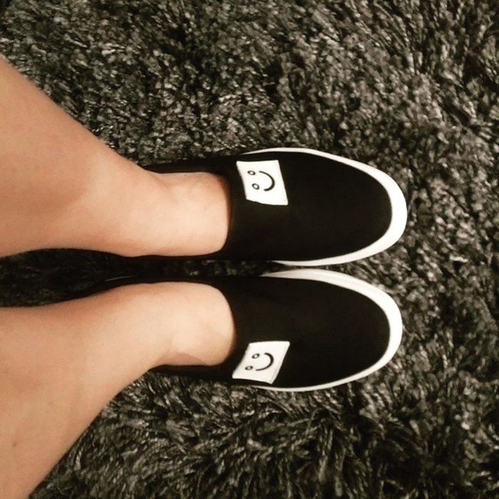 My happy new slip-ons Newshoes Happyfeet Cute Asianfashion Yesstyle Embracingtheasianstyle Cuteshoes Slipons Flatforms