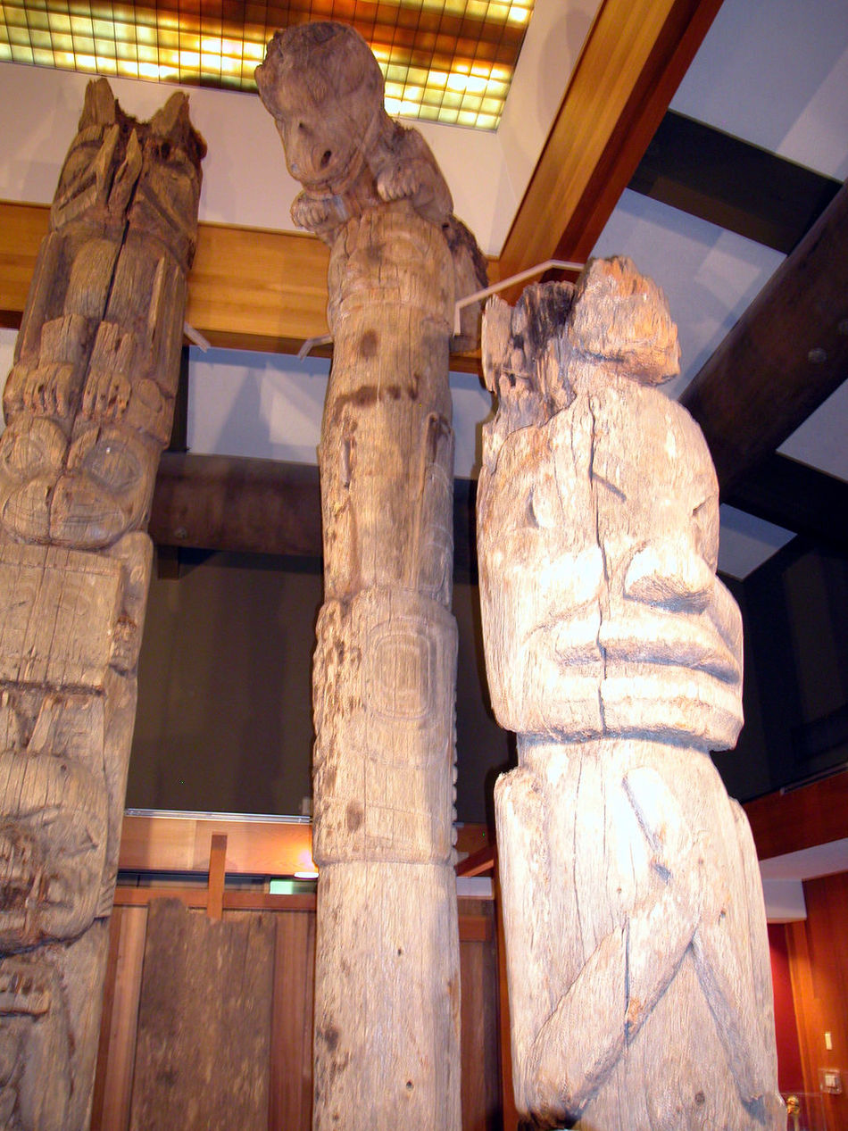Architecture Built Structure Close-up Day History Human Representation Indians  Indoors  Low Angle View Native Americans Native Canadians No People Place Of Worship Red Indians Religion Sculpture Statue Totem Pole