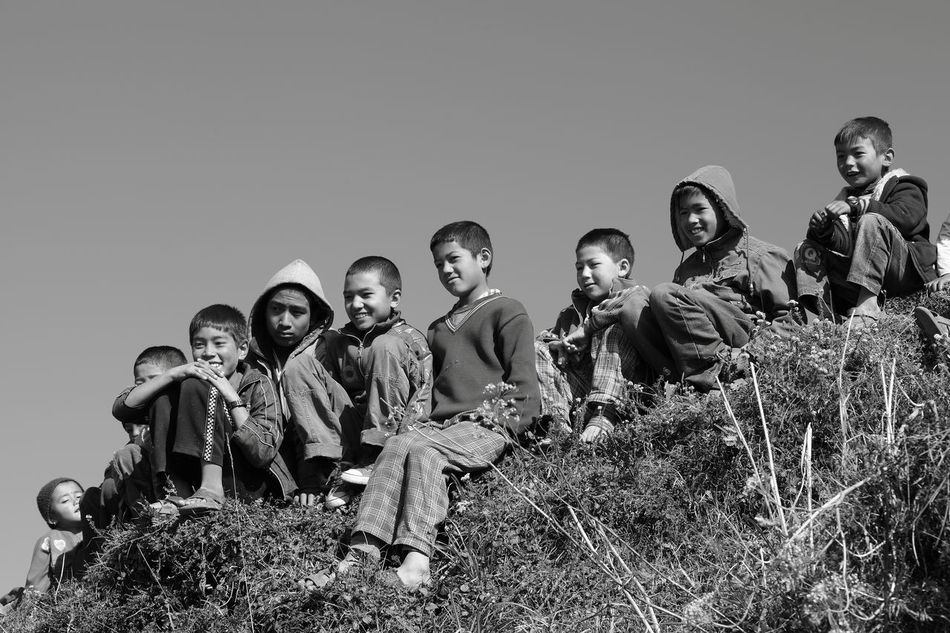 Region of Bandhar, Nepal Black And White Casual Clothing Children's Portraits Cildhood Enjoyment Friendship Fun Happiness Happy People Kids Lifestyles Nepali  Nepali People The Portraitist - 2016 EyeEm Awards The Week On Eyem Feel The Journey