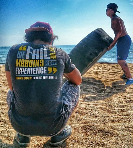 WE FAIL AT THE MARGING OF OUR EXPERIENCE Crossfit Workoutmotivation Beachphotography Beach Motivation