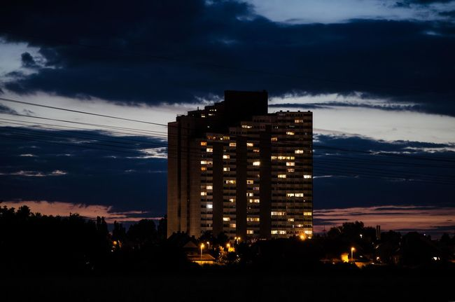 Night Nightphotography Lights Clouds And Sky Clouds Cloudy Sunset Skyscraper Lowlight Lowlightphotography Skyskrapers Erlangen