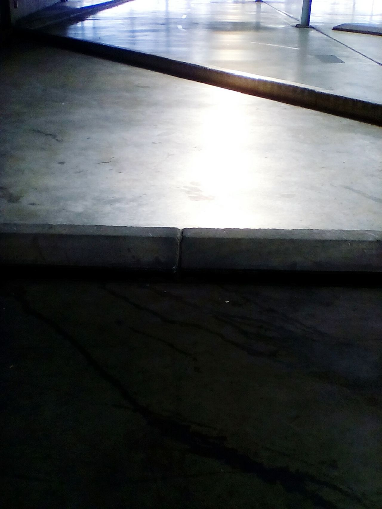 Concrete Floor Light And Shadow Parking Lot