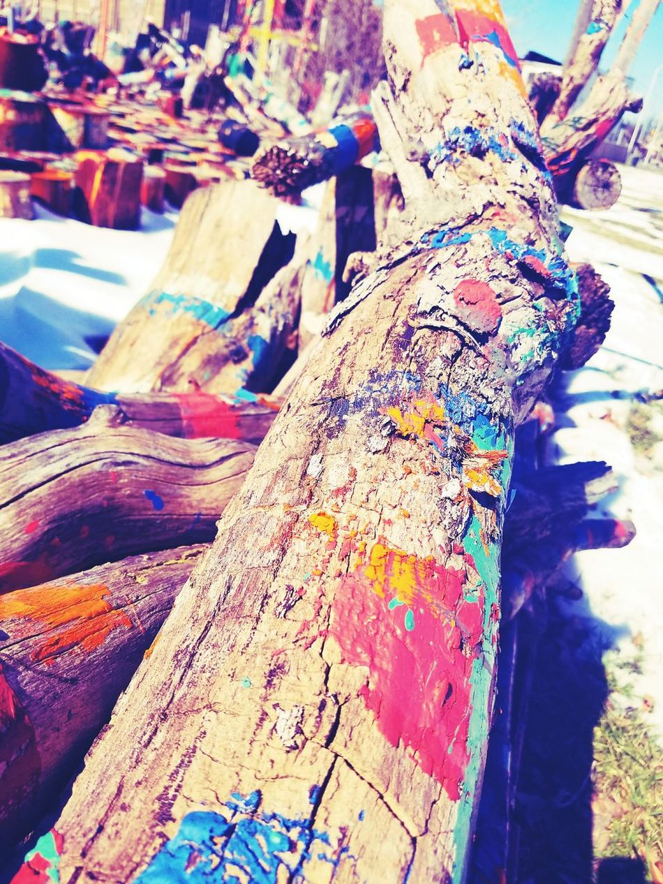@dabls Wood - Material Multi Colored Close-up Outdoors Tree ManyColors Wood Real Life Cool Day City Artphotography Meditate, Contemplate, Think, Consider, Ponder, Muse, Reflect, Deliberate Photography Is My Escape From Reality! Deep In Thought Museum Nature Daylight Eyeemphotography Hanging Out Leisure Activity Lightworker Photos Around You EyeEmbestshots Walking Around The City  Color Of Life