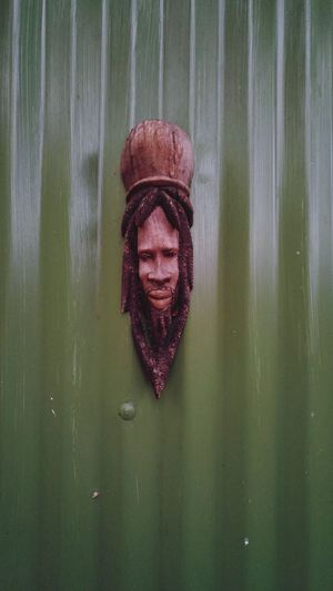 RASTA Green Face Wooden Face Rasta Man