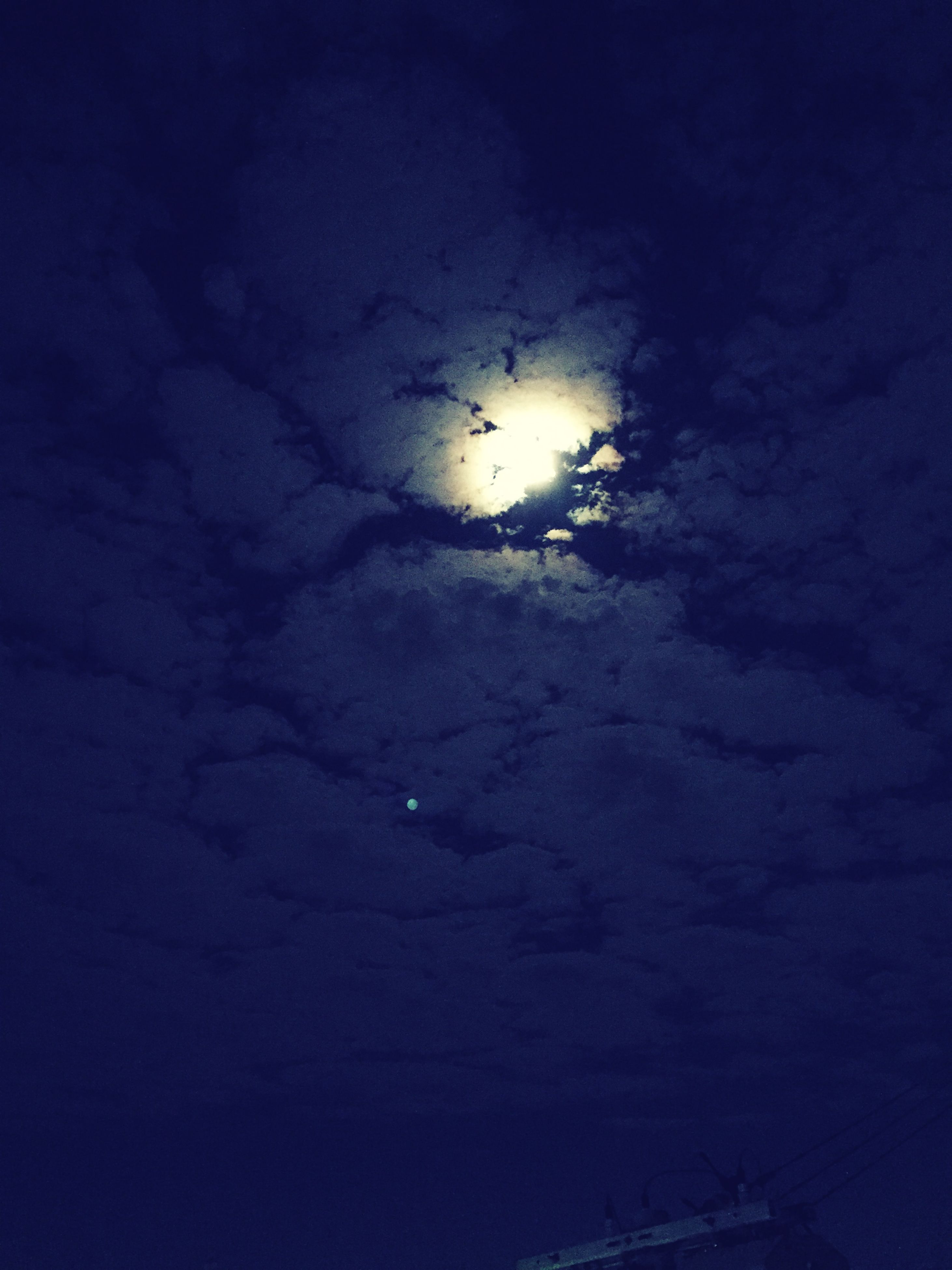 sky, night, weather, beauty in nature, scenics, tranquility, nature, tranquil scene, cloud - sky, water, low angle view, astronomy, moon, idyllic, no people, backgrounds, dusk, cloudy, outdoors, star - space