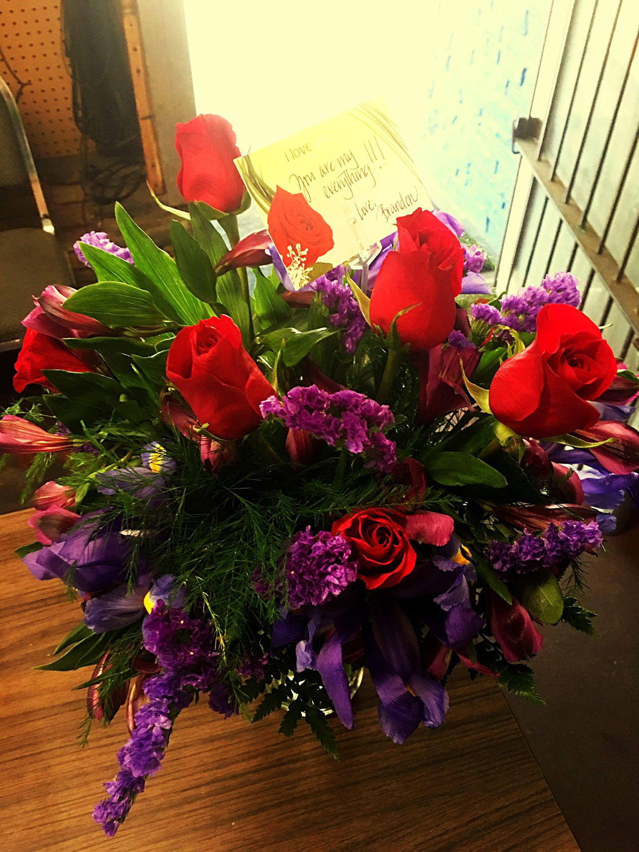 Thanks To My Husband Brandon Payne Sending Me Flowers To My Work Place 😘 Love You So Much!